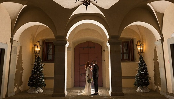 Winter Wedding ad Artimino